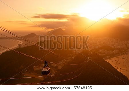 Rio de Janeiro Sunset from the Sugarloaf Mountain