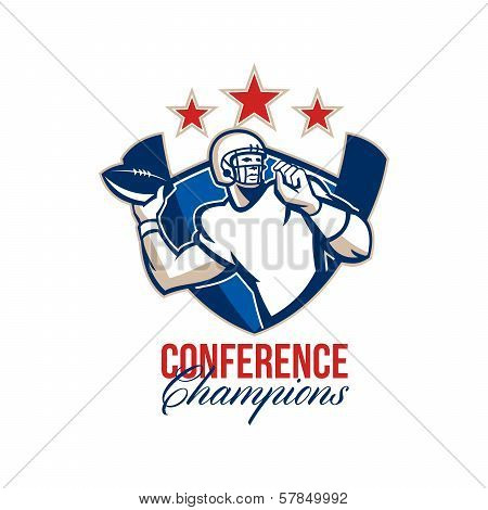 Gridiron Football Quarterback Conference Champions
