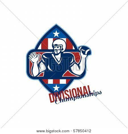 American Football Quarterback Divisional Championships Retro