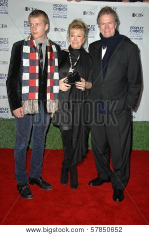 Kathy Hilton with Rick Hilton and their son Barron  at the 35th Annual People's Choice Awards. Shrine Auditorium, Los Angeles, CA. 01-07-09