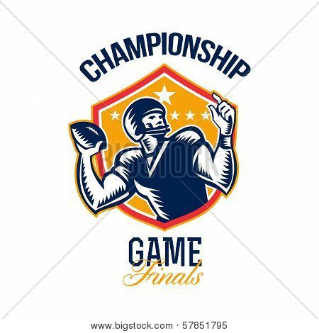 American Football Championship Game Finals Shield