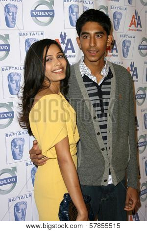 Freida Pinto and Dev Patel  at BAFTA-LA's 15th Annual Awards Season Tea Party. Beverly Hills Hotel, Beverly Hills, CA. 01-10-09