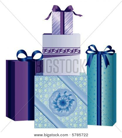 Blue Christmas Presents
