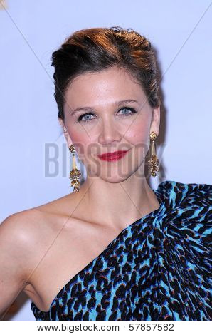 Maggie Gyllenhaal in the press room at the 66th Annual Golden Globe Awards. Beverly Hilton Hotel, Beverly Hills, CA. 01-11-09
