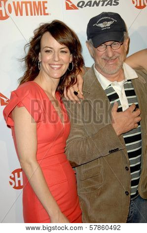 Rosemarie DeWitt and Steven Spielberg  at the Premiere Screening of 'United States of Tara'. Directors Guild of America, Los Angeles, CA. 01-12-09