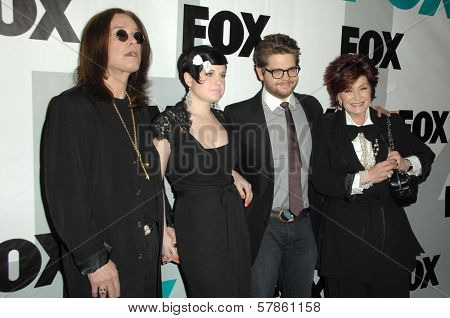 Ozzy Osbourne and Kelly Osbourne with Jack Osbourne and Sharon Osbourne  at the FOX Winter All-Star Party. My House, Los Angeles, CA. 01-13-09