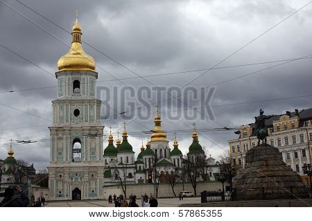 Bell Tower Of Saint Sophia Cathedral In Kiev
