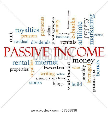 Passive Income Word Cloud Concept