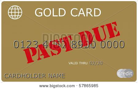 Past Due Gold Credit Card