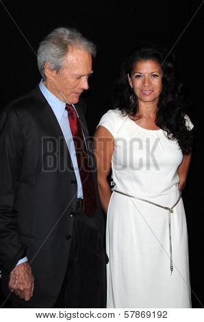 Clint Eastwood and Dina Eastwood at the Modern Master Award Presentation Gala at the 24th Santa Barbara International Film Festival. Arlington Theatre, Santa Barbara, CA. 01-29-09