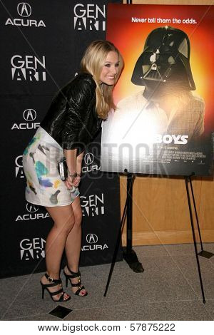 Kristen Bell at the Los Angeles Special Screening of 'Fanboys'. Clarity Screening Room, Beverly Hills, CA. 02-03-09
