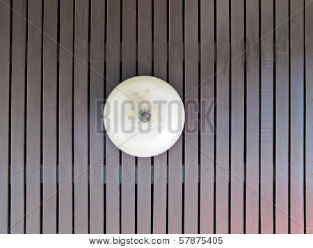Ceiling Lamp On Wood Pattern