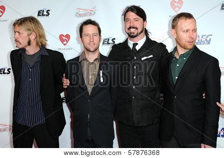 Foo Fighters at the 2009 Musicares Person of the Year Gala. Los Angeles Convention Center, Los Angeles, CA. 02-06-09
