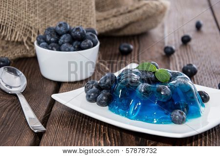 Portion Of Blueberry Jello