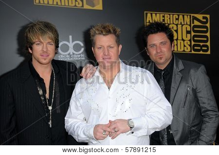 Rascal Flatts  at the 2008 American Musica Awards. Nokia Theatre, Los Angeles, CA. 11-23-08
