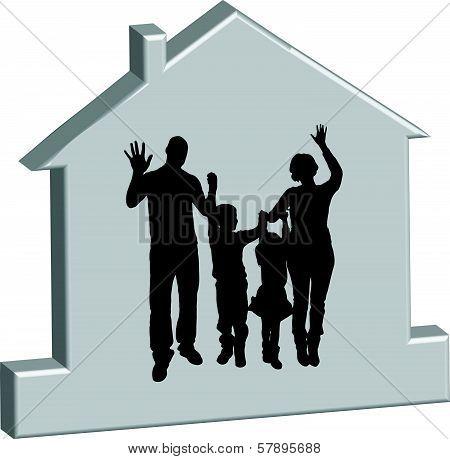vector illustration family