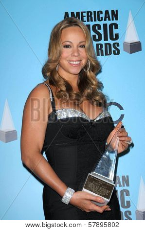 Mariah Carey  in the press room at the 2008 American Musica Awards. Nokia Theatre, Los Angeles, CA. 11-23-08