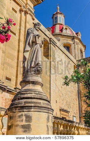 Sannat Church Statue