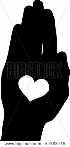 Vector silhouette illustration