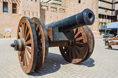 stock photo of cannon  - old cast - JPG