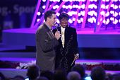 Adam Carolla and Natalie Cole   at the Debut of L.A. Live's 'Light of Angels'. L.A. Live, Los Angele