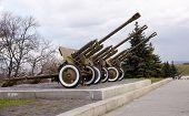 foto of artillery  - Soviet artillery from the WW2 War museum in Kiev - JPG