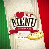 foto of dessert plate  - vector pizzeria menu brochure cover design template - JPG