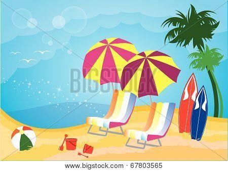Beach relaxation