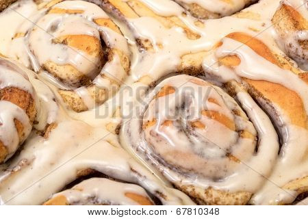 Top View Appetizing Cinnamon Buns