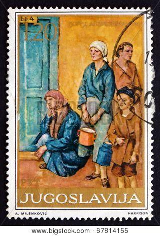 Postage Stamp Yugoslavia 1975 Soup Kitchen, By Dorde Andrejevic-
