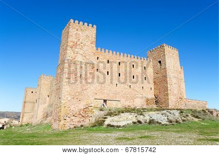 Siguenza castle old fortress in Siguenza Guadalajara Spain.