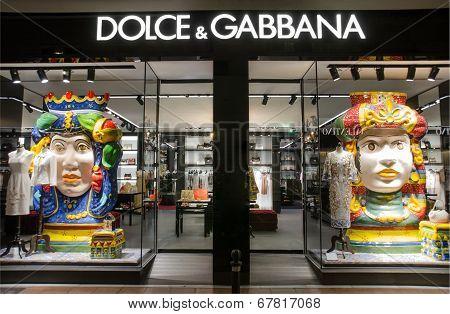 Dolce & Gabbana store in Puerto Banus Marbella Spain.
