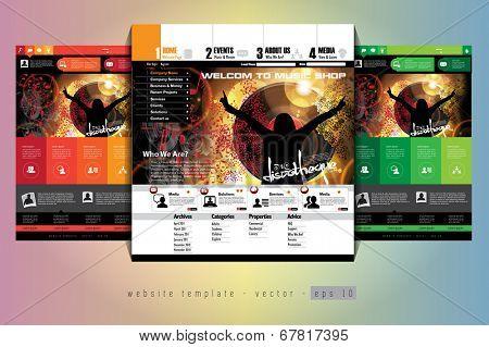 Website layout. Easy editable vector