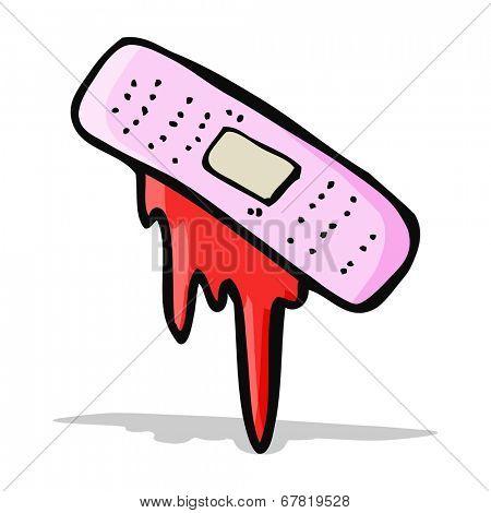 cartoon bloody plaster