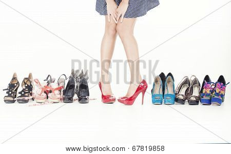 high heels and the shoes