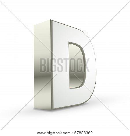 3D Alphabet Silver D