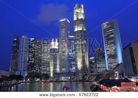 Singapore skyline by night
