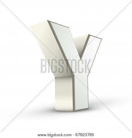 3D Alphabet Silver Y