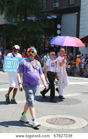 LGBT Pride Parade participant in New York City