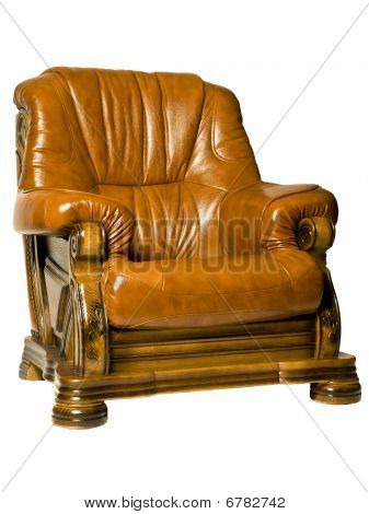Cosy Antique Leather Armchair