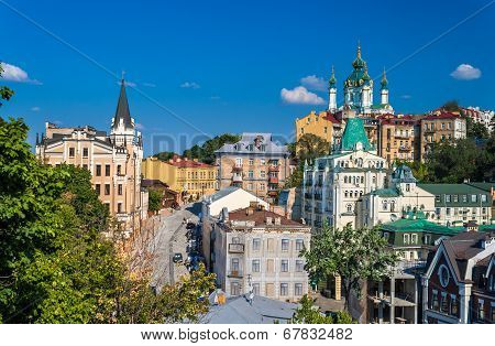 Andriyivskyy Descent. Kiev, Ukraine