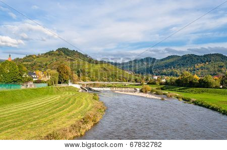 View Of Kinzig River In The Black Forest Mountains. Germany - Baden-wurttemberg