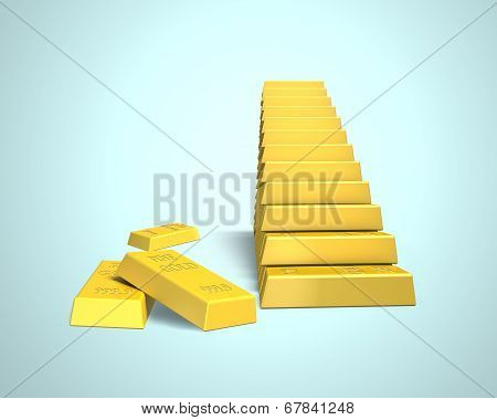 Bullion In Stairs Shape