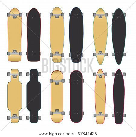 Skateboards and Longboards