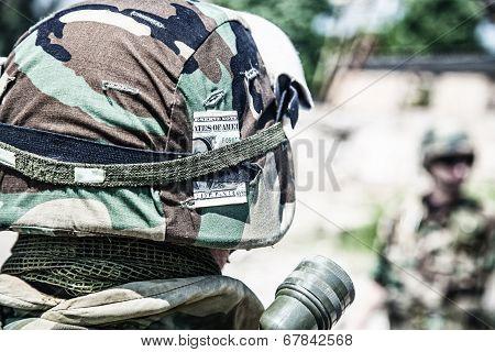 helmet with banknote