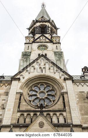 Detail  Of An Old Church In Berlin Kreuzberg