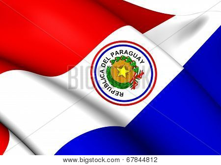 Flag Of Paraguay (1842-1990)