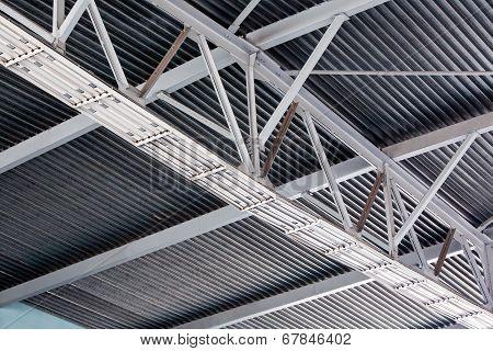 Modern Metal Roof Inside Storehouse