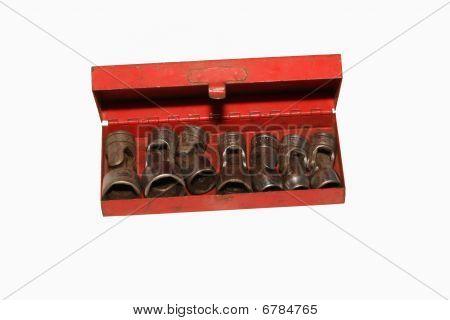 Rachet Sockets In Red Box