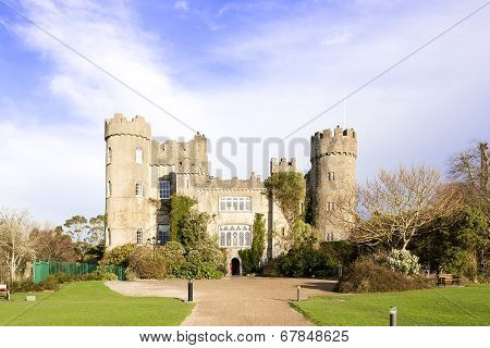 Dublin, Ireland - December 21, 2013: Malahide Castle